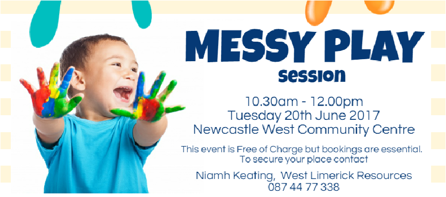 Messy Play Workshop in Newcastle West
