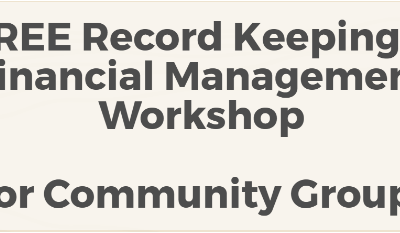Free Record Keeping & Financial Management Workshop