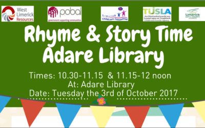 Adare Story and Rhyme Time Event UPDATE