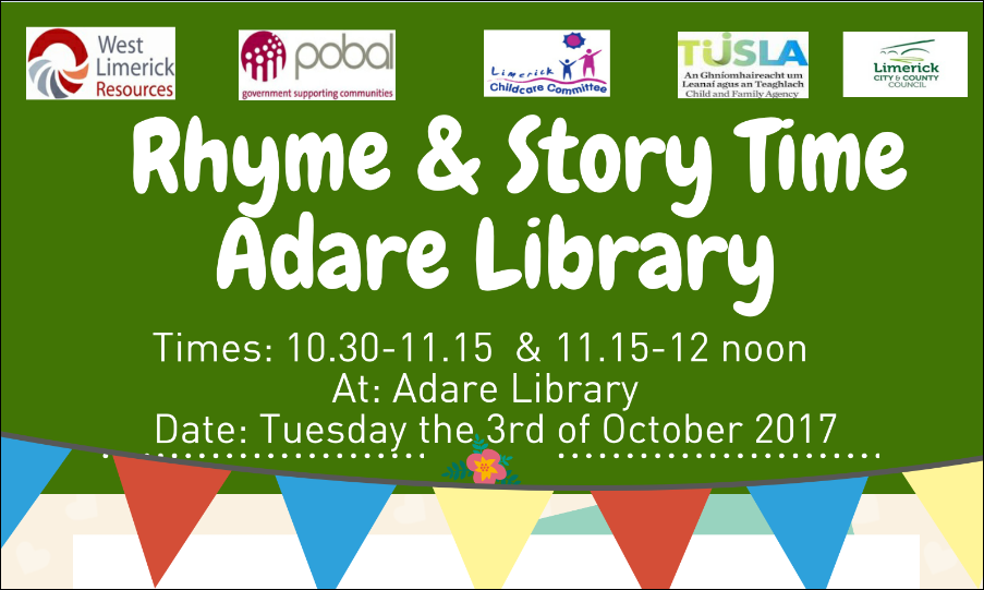 Adare Rhyme & Story Time UPDATE